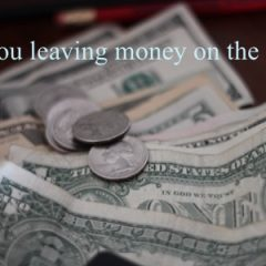 leaving money on the table