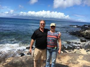 Ed and Adele Akehurst Maui vacation